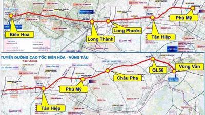 Phác thảo hình hài cao tốc Biên Hòa - Vũng Tàu