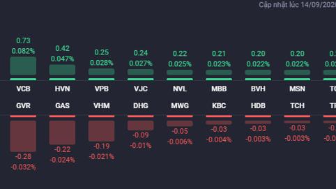 VIC giữ nhịp tăng của VN-Index, nhóm bất động sản phân hóa mạnh