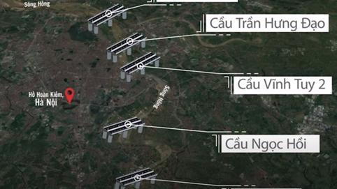 Chi tiết về 5 cây cầu nghìn tỷ bắc qua sông Hồng sắp được xây dựng ở Hà Nội