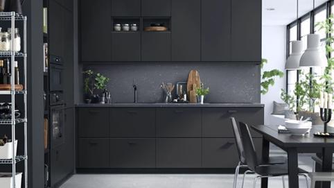Bộ sưu tập 17 mẫu bếp màu đen sang chảnh thời thượng