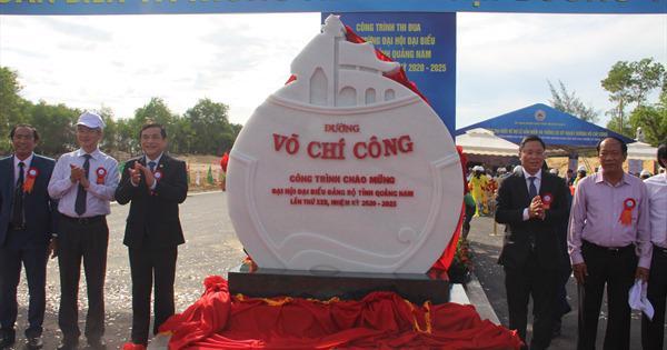 Quảng Nam đề xuất đầu tư 1.100 tỷ đồng hoàn thiện đường Võ Chí Công