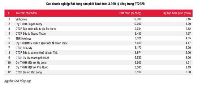 Novaland là một trong 3 doanh nghiệp địa ốc phát hành hành trái phiếu nhiều nhất trong 9 tháng đầu năm 2020.