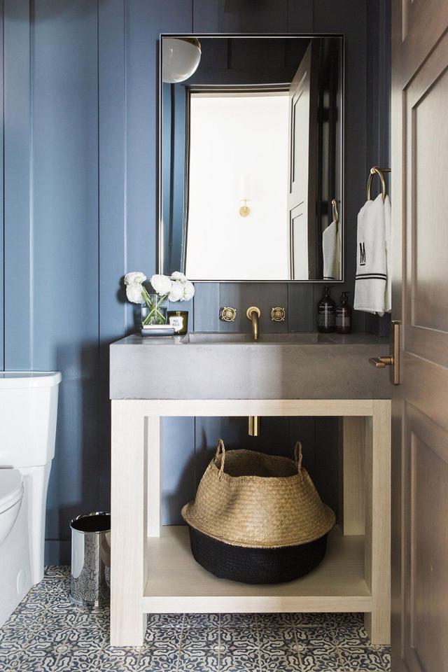 Tạo nguồn cảm hứng mới cho phòng tắm với thiết kế màu xanh - Ảnh 4