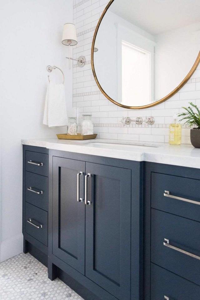 Tạo nguồn cảm hứng mới cho phòng tắm với thiết kế màu xanh - Ảnh 5