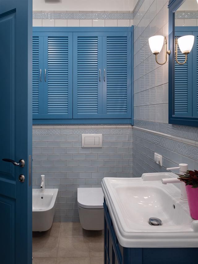 Tạo nguồn cảm hứng mới cho phòng tắm với thiết kế màu xanh - Ảnh 7