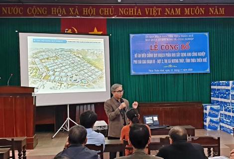 Công bố điều chỉnh quy hoạch phân khu xây dựng Khu công nghiệp Phú Bài - Ảnh 1