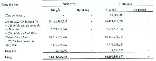 Nguồn: BCTC hợp nhất Quý III/2020 của NetLand