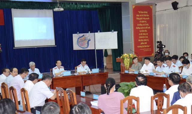 Thanh tra Chính phủ đối thoại với đại diện 50 hộ dân Thủ Thiêm, về ranh quy hoạch khu phố, thuộc 3 phường của Khu đô thị mới Thủ Thiêm (quận 2)
