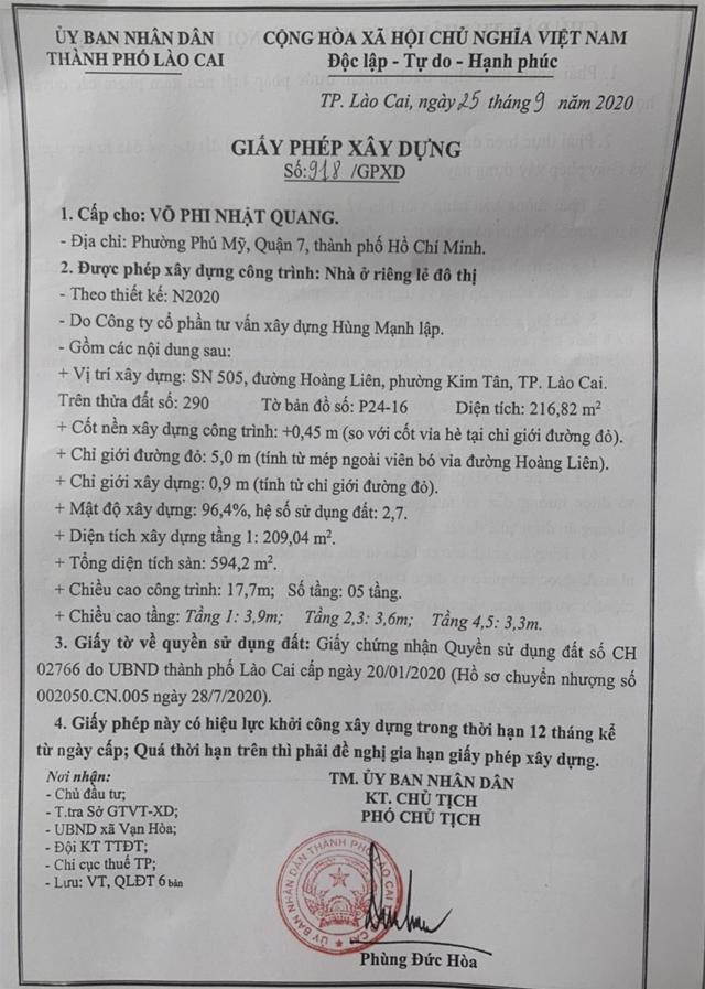 """Cấp phép xây dựng ở Lào Cai: """"Phép vua thua lệ làng""""? - Ảnh 1"""
