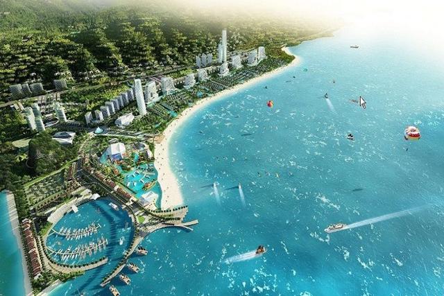 Phối cảnh dự án Khu tổ hợp nghỉ dưỡng Sonasea Vân Đồn Harbour City của CEO Group.