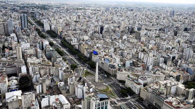 Những tòa nhà ở thành phố Buenos Aires, thủ đô Argentina.