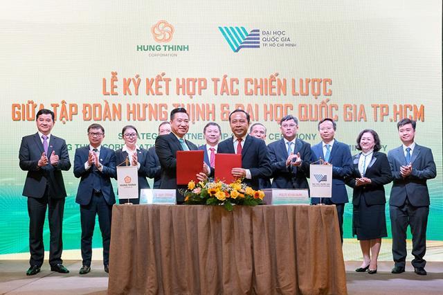 Tập đoàn Hưng Thịnh và Đại học quốc gia TP Hồ Chí Minh ký kết hợp tác chiến lược  - Ảnh 1