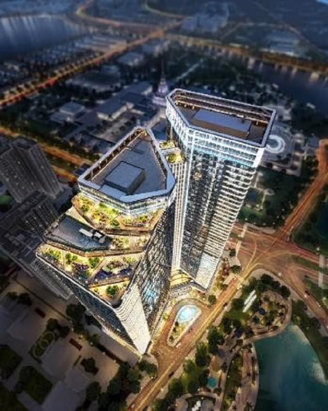 Tòa văn phòng TechnoPark có thiết kế bền vững với mặt ngoài toàn bộ được phủ kính Low-E an toàn dày 26mm đón ánh sáng tự nhiên và mang tới tầm nhìn panorama độc đáo.