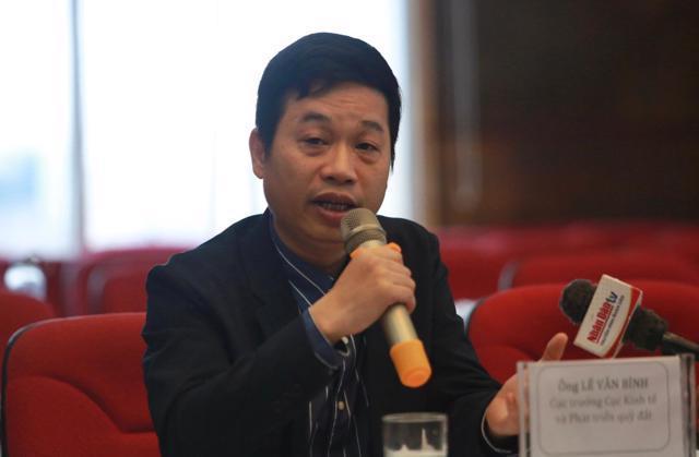 Ông Lê Văn Bình, Cục trưởng Cục Kinh tế và Phát triển quỹ đất, Tổng cục Quản lý đất đai (Bộ Tài nguyên và Môi trường).