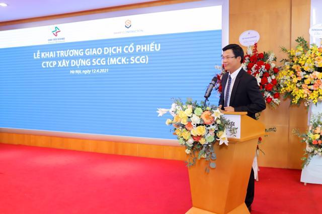 Ông Lê Văn Nam - TGĐ CTCP Xây dựng SCG phát biểu tại sự kiện