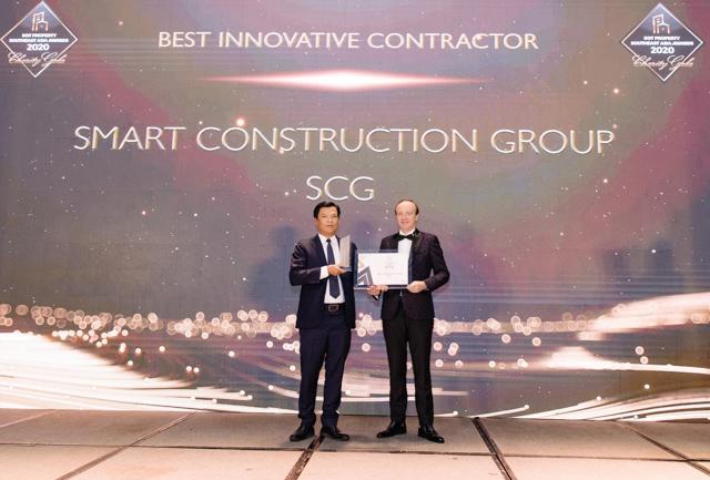 Công ty Cổ phần xây dựng SCG (Smart Construction Group) nhận giải thưởng Best Innovative Contractor Southeast Asia 2020 - Nhà thầu xây dựng đột phá nhất Đông Nam Á 2020.