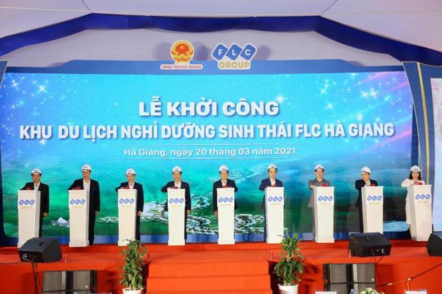 Lễ khởi công FLC Hà Giang - một trong những công trình mà FLC Faros được giao làm nhà thầu.