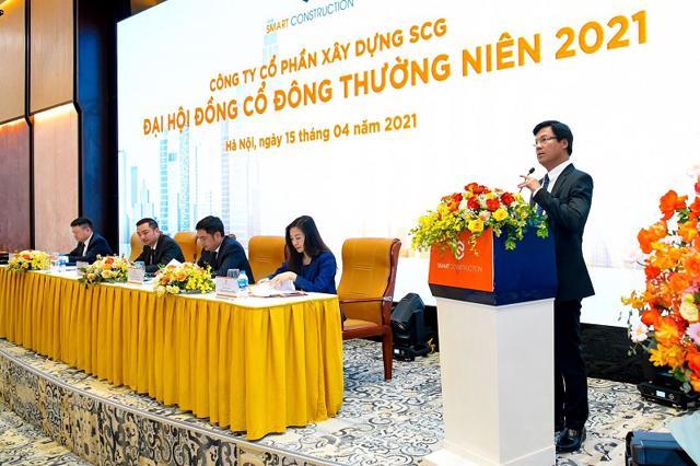 Ông Lê Văn Nam – Tổng Giám Đốc SCG, đại diện Ban điều hành công ty bày tỏ quyết tâm đạt được các mục tiêu tăng trưởng lợi nhuận và đẩy mạnh đầu tư trong năm 2021.