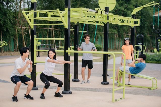 Công viên Sportia – Vinhomes Smart City giúp cư dân duy trì thói quen vận động nhờ hơn 1000 chứa năng tập và không khí ngoài trời trong lành, thoáng đãng.