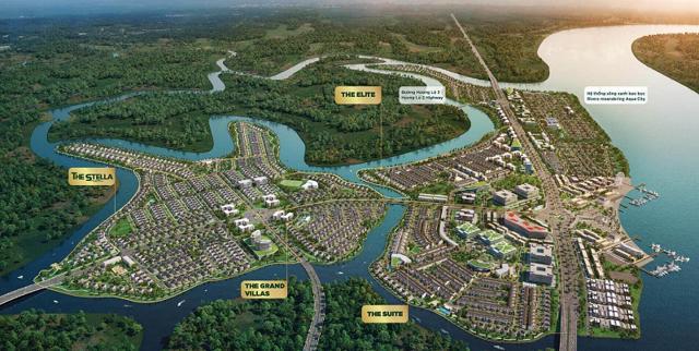 Phối cảnh dự án Aqua Riverside City của Tập đoàn Novaland.