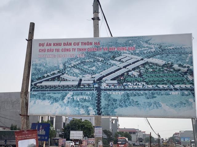 """Bất chấp chỉ đạo """"nóng"""" của UBND tỉnh Bắc Giang dự án Khu dân cư thôn Hạ, xã Nghĩa Hòa, huyện Lạng Giang vẫn được rao bán trái phép từ nhiều năm nay"""