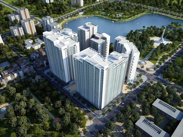 Phối cảnh dự án Mandarin Garden của Hòa Phát.