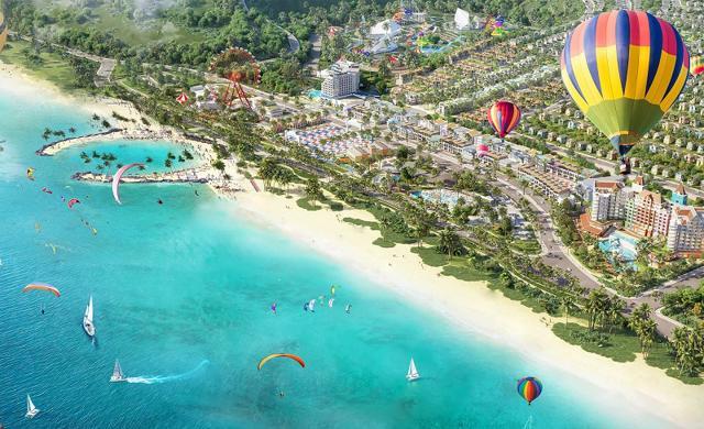 Phối cảnh tổ hợp du lịch nghỉ dưỡng giải trí NovaWorld Phan Thiet (Tiến Thành, Bình Thuận) quy mô 1.000 ha của Novaland.