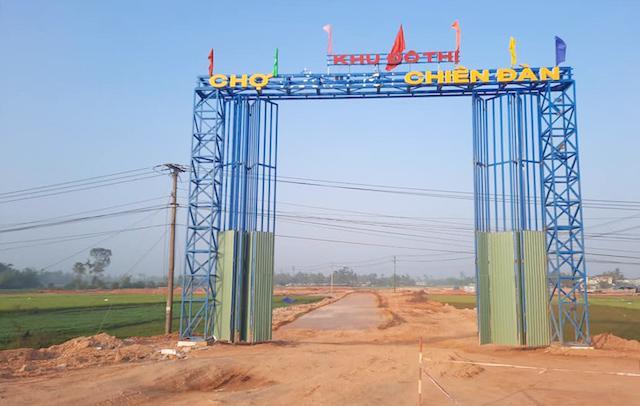 Dự án Khu phố chợ Chiên Đàn tại Quảng Nam chưa hoàn thiện cơ sở hạ tầng đã rao bán trái phép trên các trang mạng xã hội.