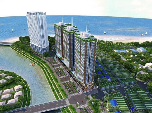 Phối cảnh dự án Khu dân cư Cồn Tân Lập Nha Trang mà Hải Phát thế chấp cho khoản vay 650 tỷ đồng.