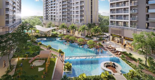 Khu hồ bơi rộng thoáng và hiện đại trong lòng khu căn hộ Lavita Thuan An 00