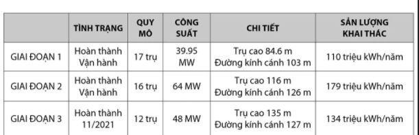 Chi tiết các giai đoạn thực hiện dự án nhà máy điện gió Trung Nam. (Nguồn:Trung NamGroup).