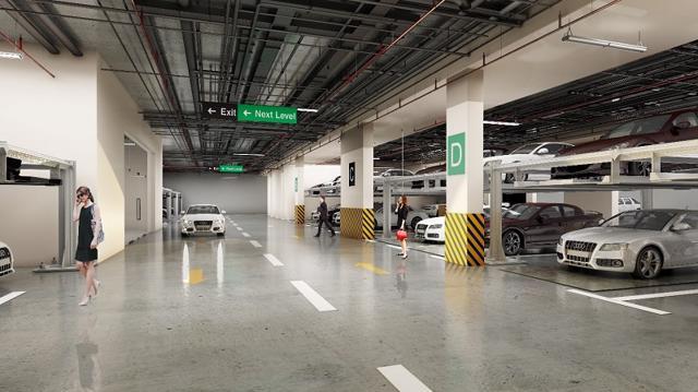 Hateco Laroma cam kết chỗ đỗ xe ô tô cho mỗi hộ gia đình.
