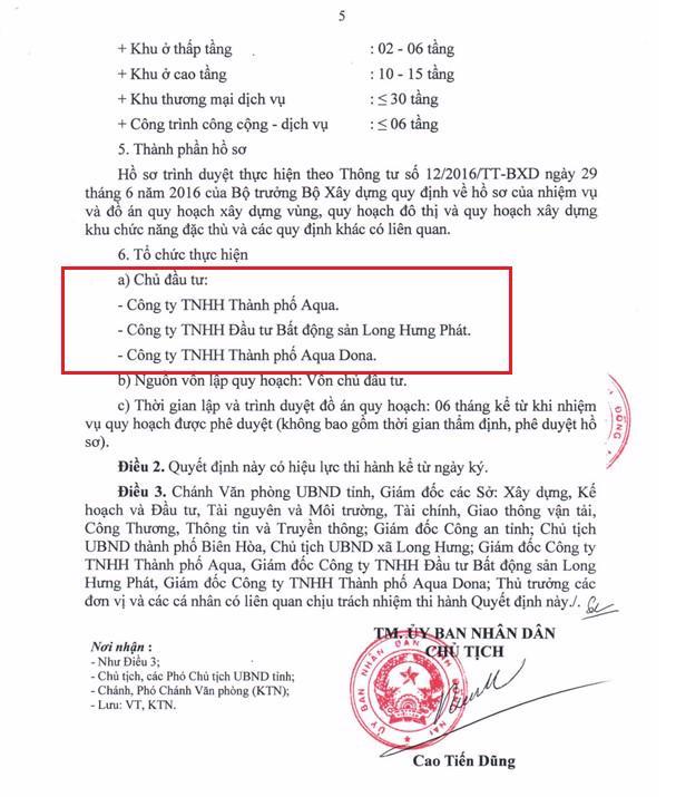 Điều chỉnh quy hoạch 1/500 KĐT Aquacity tại Đồng Nai - Ảnh 2