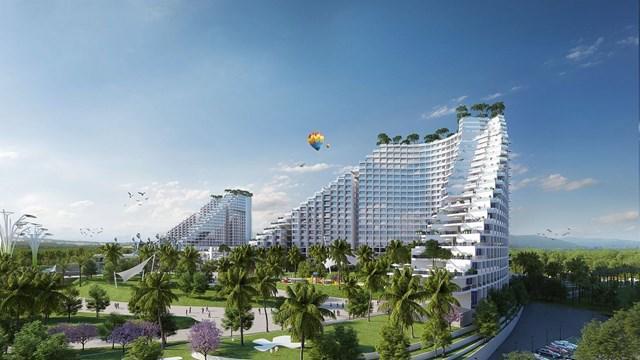 Phối cảnh dự ánThe Arena Cam Ranh.