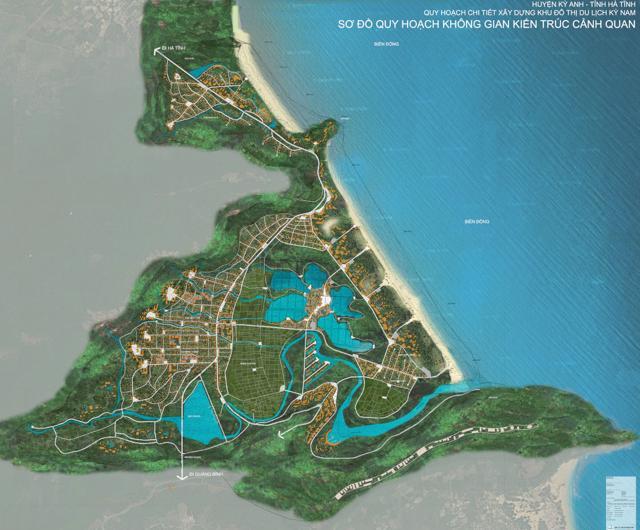 Sơ đồ quy hoạch không gian kiến trúc cảnh quan Khu đô thị du lịch Kỳ Nam