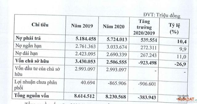 Nguồn: Tài liệu ĐHĐCĐ thường niên năm 2021 của DLG.