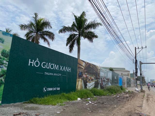 Bình Dương: Phạt chủ đầu tư dự án Hồ Gươm Xanh Thuận An City vì không có giấy phép xây dựng.
