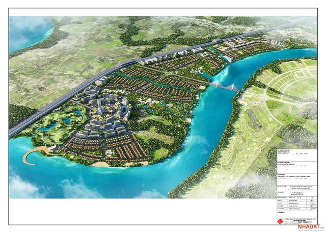 Phối cản dự án Khu đô thị du lịch Long Tân.