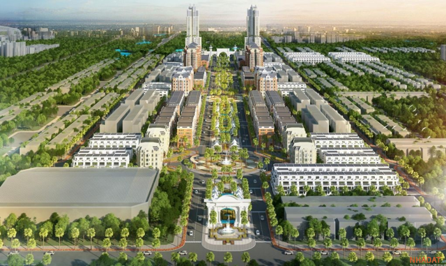 Phối cảnh dự án Tổ hợp Thương mại dịch vụ và nhà ở cao cấp Bắc Giang do Tập đoàn FLC làm chủ đầu tư.
