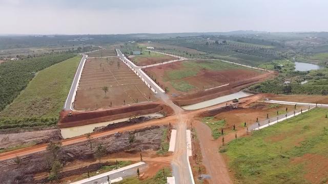 """36 ha đất ở xã Đam B'ri, TP Bảo Lộc được quảng cáo rầm rộ """"dự án"""" Làng sinh thái nghỉ dưỡng La Mélodie."""