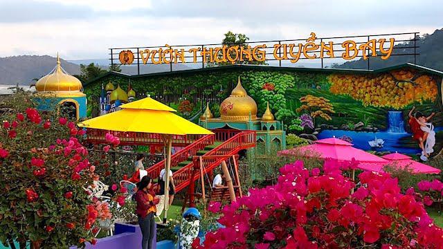 Khu du lịch Vườn thượng uyển bay (trên đèo Mimoza, thuộc phường 10, TP Đà Lạt) không được cấp giấy phép xây dựng.