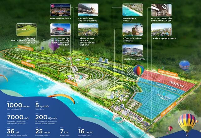 NovaWorld Phan Thiet – dự án 1.000 ha với tổng vốn đầu tư 5 tỷ USD của Novaland.