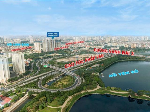 Phương Đông Green Park sở hữu tầm view bao trọn công viên Yên Sở