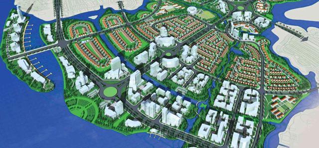 Phối cảnh khu đô thị Đồng Nai Waterfront City.