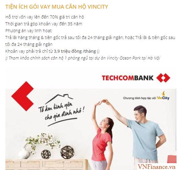 Người mua nhà có thể vay vốn từTechcombank thời hạn đến 35 năm