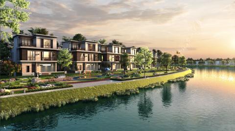 Không gian sống sinh thái tại Đô thị đảo Phượng Hoàng thuộc dự án Aqua City (Đồng Nai).