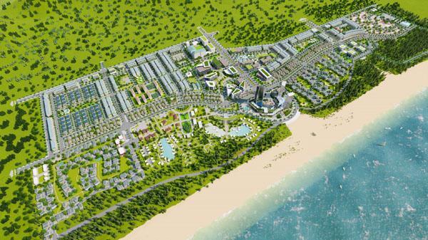 Phối cảnh dự án Khu du lịch sinh thái Tân Dân.