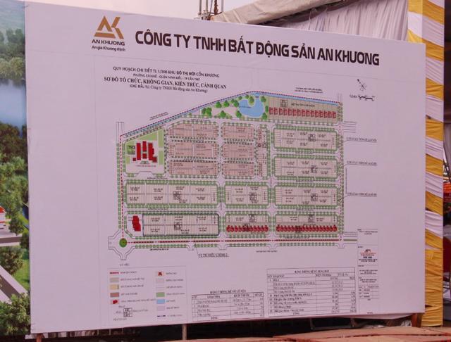 Sơ đồ dự án Khu đô thị mới Cồn Khương