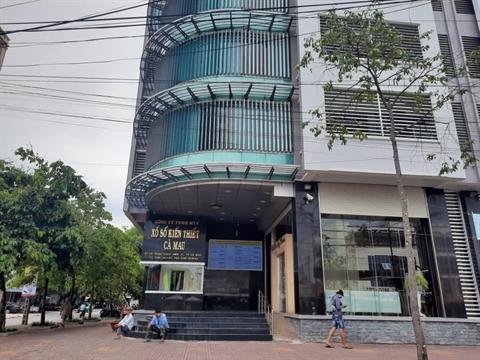 Trụ sở Cty XSKT Cà Mau trên đường Phan Ngọc Hiển, phường 4, thành phố Cà Mau