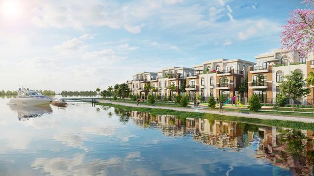 Lợi thế không gian sống và kết nối tốt giúp Aqua City thu hút nhà đầu tư. Ảnh phối cảnh: Novaland.